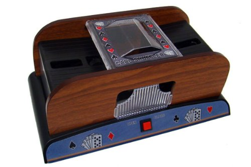 Deluxe 2 Deck Wood Automatic Card Shuffler - Inlcudes 2 Bonus Deck of Cards! by Poker Supplies