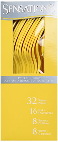 (Sensations Assorted Cutlery Yellow Boxed, 32 ct)