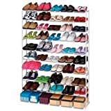 Gigantic 50 Pair Shoe Rack - White by Merrick