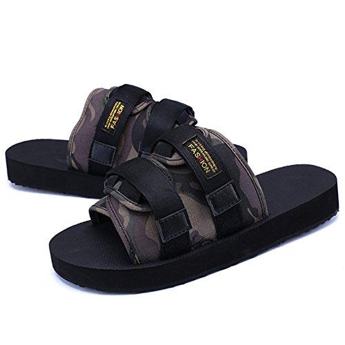 39 3 Confortables De Color Wangcui tamaño Superficie Zapatillas Hombres Pantuflas Camo 1 para Exterior Camo De Zapatillas EU ZxqzOxRwE