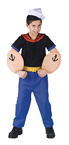 [Popeye Child Lg 12-14 Kids Boys Costume] (Girl Popeye Costume)