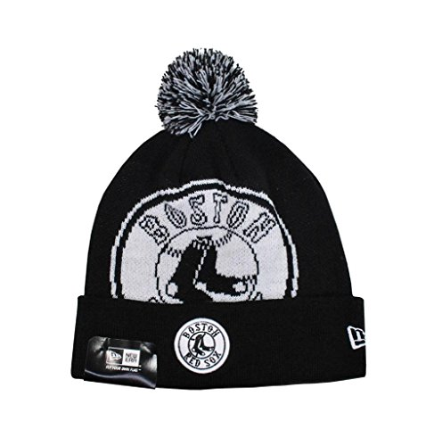 Red Sox Beanie (NEW ERA Beanie MLB Boston Red Sox Woven Biggie 2 Cuffed ONE Size Knit Hat)