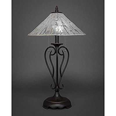 Table Lamp with Italian Ice Glass Shade