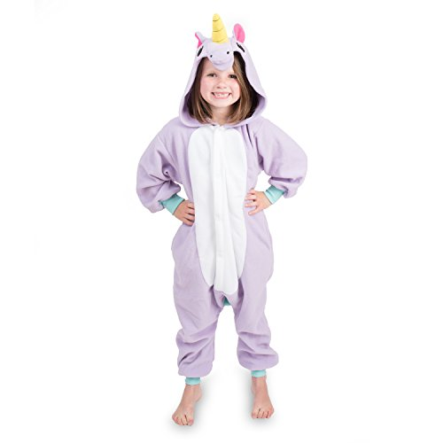 Emolly Fashion Kids Animal Unicorn Pajama Onesie - Soft and Comfortable with Pockets (4, Purp) Purple]()