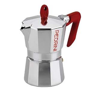 Amazon.com: Pedrini Italia aluminio pulido Estufa cafetera ...