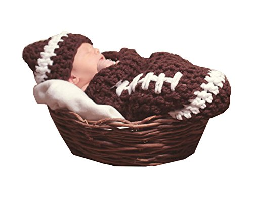CX-Queen Baby Photography Prop Crochet Baseball Sport Set Coffee Hat Cocoon Costume (Boys Baseball Costumes)