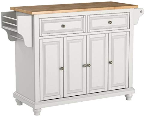 Crosley Furniture Cambridge Kitchen Island with Natural Wood Top - White by Crosley Furniture (Image #6)