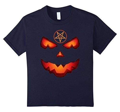 Kids Halloween Scary Pumpkin Mean Face Spooky T-Shirt 12 (Mean Halloween Pumpkin Face)