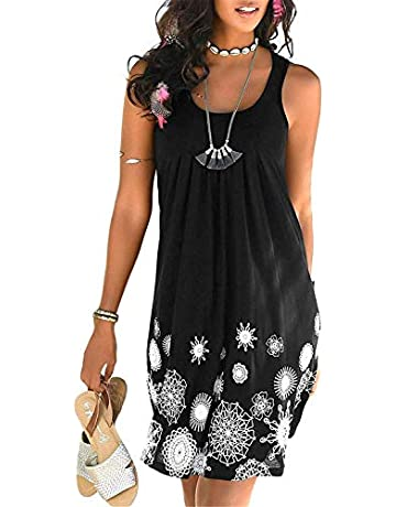 a602dfe273f16d KISSMODA Women's Sleeveless Dresses Beach Summer Tank Vest Dress