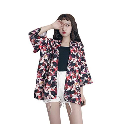 Viviseason (ビビシーズン) 着物 カーディガン レディース 美人 パターン ゆったり ファッション 秋 和風 浴衣 カジュアル