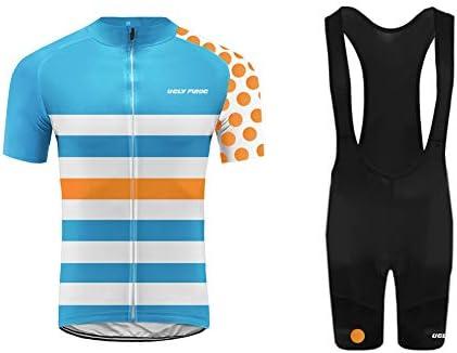 Uglyfrog Ropa Conjunto Traje Equipacion MTB Ciclismo Hombre Verano con 3D Acolchado De Gel, Maillot Ciclismo + Pantalon/Culote Bicicleta para MTB Ciclista Bici FAX19DT01: Amazon.es: Deportes y aire libre