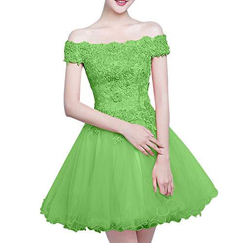 Grün Marie Spitze Brautjungfernkleider La Kurz Abendkleider Mini Romantisch Cocktailkleider Rosa Braut Ballkleider pqaTg