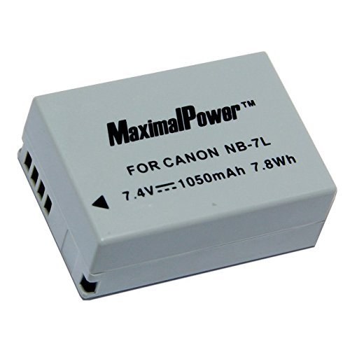 MaximalPower Replacement Battery for Canon NB-7L NB7L Powershot G10 G11 G12 SX30 is