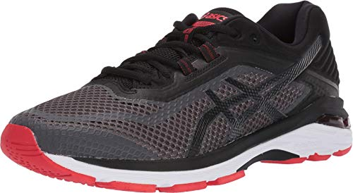 ASICS Men's GT-2000 6 Running Shoe, Dark Grey/Black/Red, 10.5 M - Assembled Differential