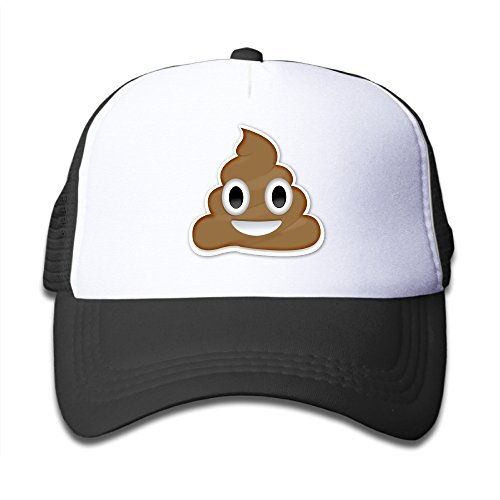 Bro-Custom Cartoon Poop Smiley Face Child's Unisex Hats Caps One Size Fit All Black
