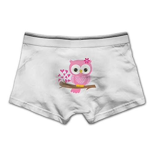 Mokjeiij Baby Girl Owl On A Branch Men's Ultra-fast-drying Boxer Panties. (Baby Fancy Panties)