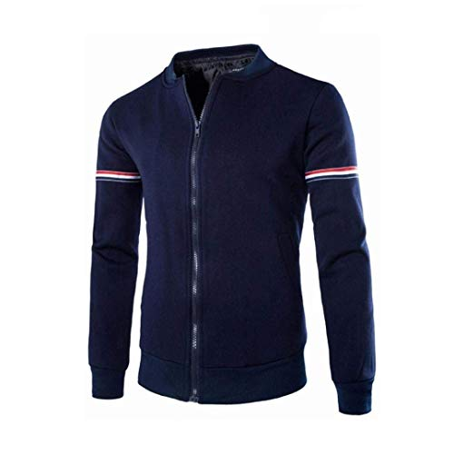 Marine Moda Collar Sport Jacket Hombres Screenes Ocio Ocasional Hombres Sweat Bomber Cazadora Invierno Jacket Abrigo Decorativa Cazadoras Chaqueta Casual Abrigos Otoño Banda Jacket RwBRIE
