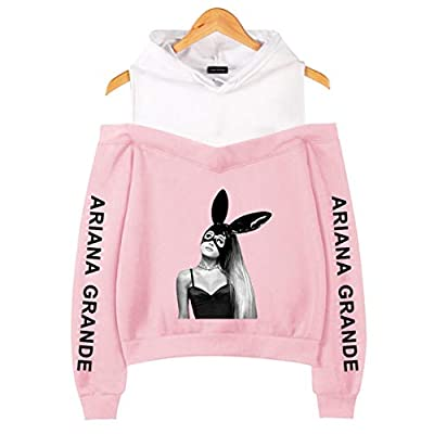 ourraiy Friendly Ariana Grande Rabbit Printed Long Sleeve Off Shoulder