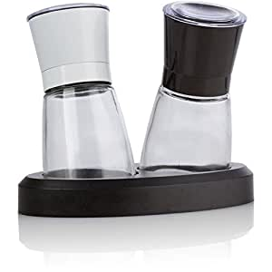 USimplySeason Ebony & Ivory Salt and Pepper Adjustable Grinder Set