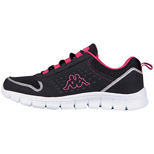 Unisex sintético de negro 1122 deportiva zapatilla AMORA Schwarz Footwear Kappa unisex black pink material adulto X0UqAU8wx