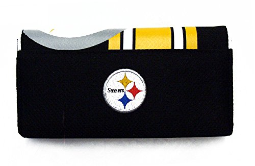 Pittsburgh Steelers Ladies Mesh Trifold Organizer Clutch Wallet