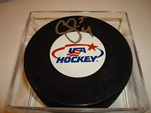 Cam 4 U (Autographed Cam Fowler Hockey Puck - Team U.S.A. #4 Go !!! - Autographed NHL Pucks)