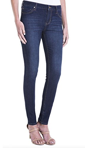 Liverpool Jeans Company Women's Abby Skinny 5 Pocket Mid Rise with Shaping and Slimming 4-Way Stretch Denim Jean, Corvus Dark, 10