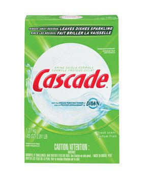 Cascade 34034 Fresh Scent Automatic Dishwasher Detergent, 45 Ounces (Case of 12) by Cascade
