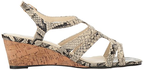 Annie Shoes Womens Aspen Espadrille Wedge Sandal Black IsjXNP6yw