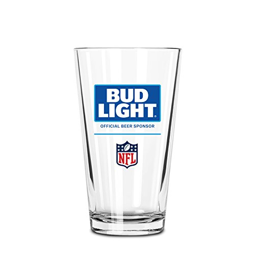 Bud Light Official NFL Nucleated Pint Glass, ()