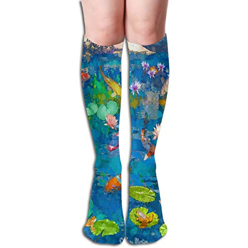 (Socks Koi Fish Pond with Lily Amazing Womens Stocking Holiday Sock Clearance for Girls)