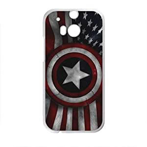 Captain America's Shield Brand New And Custom Hard Case Cover Protector For HTC One M8
