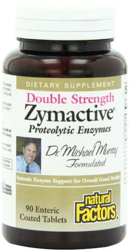 Natural Factors Zymactive doubles Comprimés Force, 90-Count