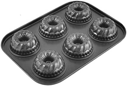 uxcell Kitchen Muffin Cake Donut 6 Compartments Bakeware Pan Tray Mould Mold
