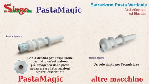 Sirge pastamagic-c máquina para la pasta 300 W - 14 formas - Extracción Pasta Vertical [no engancha] Max 640 gr. de harina Incluye Kit raviolis: Amazon.es: ...