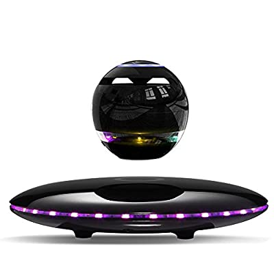 Infinity Orb Magnetic Levitating Speaker Bluetooth 4.0 LED Flash Wireless Floating Speakers with Microphone and Touch Buttons (Black) by Infinity Orb