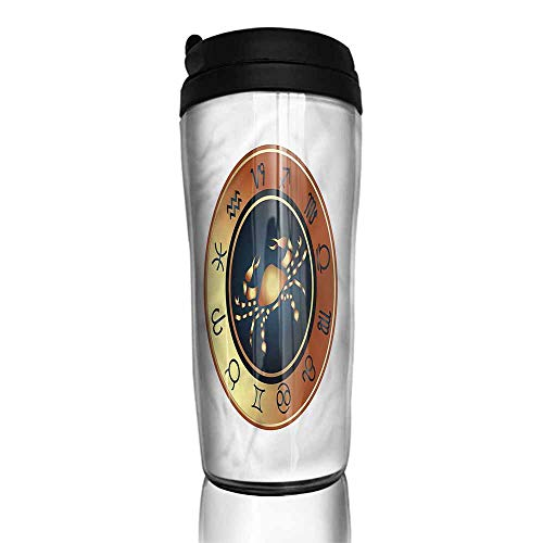 (coffee cups with lids Zodiac Cancer,Ombre Style Frame 12 oz,cup filters for)
