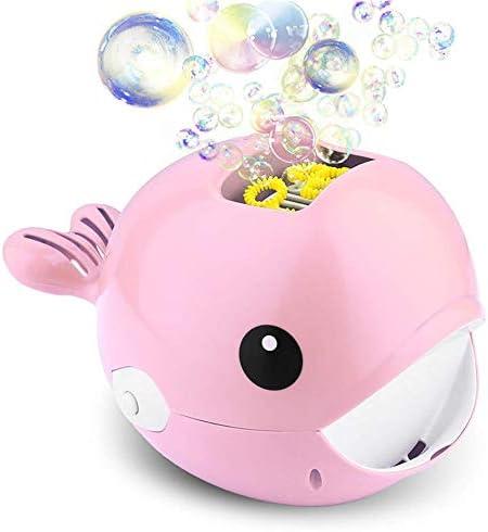 子供 おもちゃ クジラバブルマシン自動バブルマシン子供の屋外屋内のおもちゃバブルマシン バブルおもちゃ (Color : Pink, Size : One size)