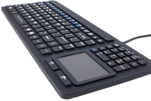 SolidTek Keyboard with Touchpad - Industrial IP68 Waterproof Rugged Silicone KBIKB107
