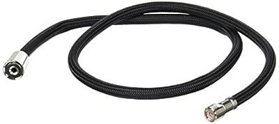 Rohl 9.28426PN Perrin and Rowe Side Spray Black Nylon 47 Hose Only with Rinse Hose Ferrule in Polished Nickel to U.4710U.4702 U.4707 U.4718X U.4719L U.4735X U.4736L