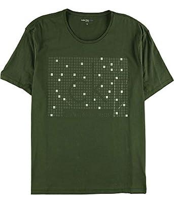 Calvin Klein Men's Short Sleeve Hd Squared Ck Logo Crew T-Shirt
