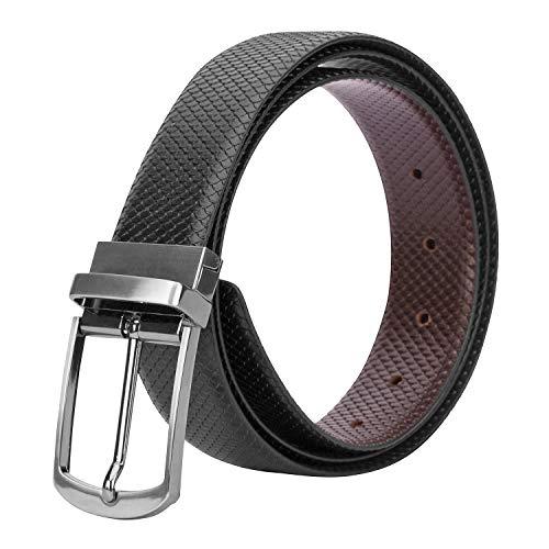 THE KNOT CO Men's Genuine Leather Reversible Formal Belt