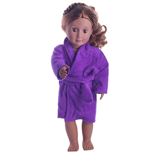 WensLTD Clearance! Cute Soft Robe Dolls Robe Fit For 18 inch Our Generation American Girl Doll (Purple) ()