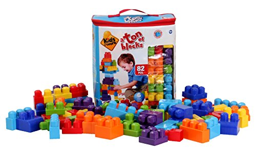Kids at Work 82 Piece Building Blocks with Storage Tote by Kids@Work