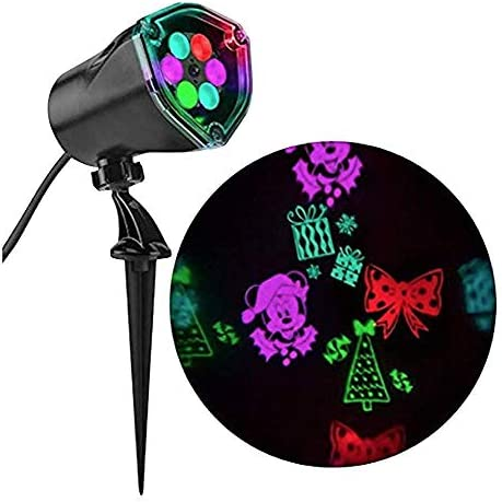 Gemmy Disney Magic Holiday Minnies Bow-Tique Fantastic Flurry LED Projection Spotlight