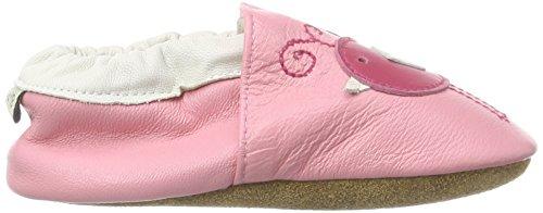 Free Fisher MY0011 - Suaves zapatos de cuero para bebé, talla S, color rojo