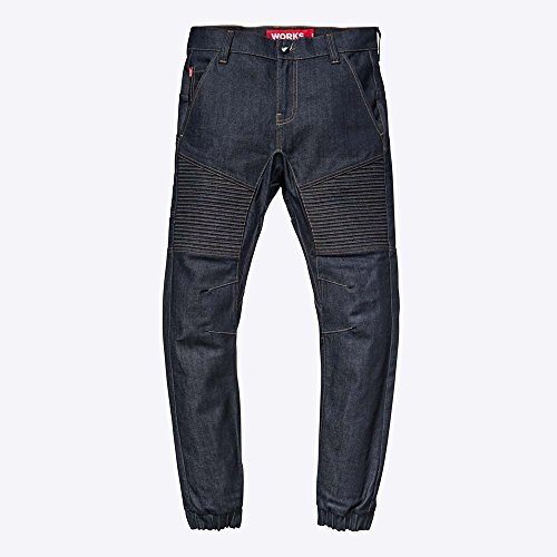 Saint Jean - SAINT Works Flight Jeans - Comfortable Premium Denim Work Utility Pants Made With The World's Strongest Denim (32, Indigo)
