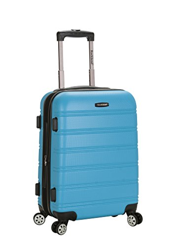 Rockland Luggage Melbourne 20 Inch Expandable Carry On, Turquoise, One Size