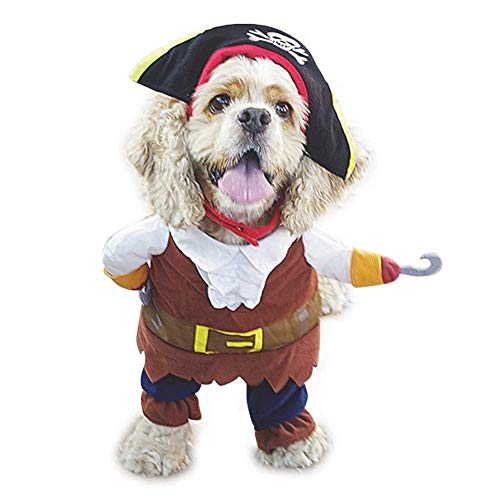 Bravo Sport Pet Dog Cat Christmas Halloween Costume Pirates of The Caribbean Style ()