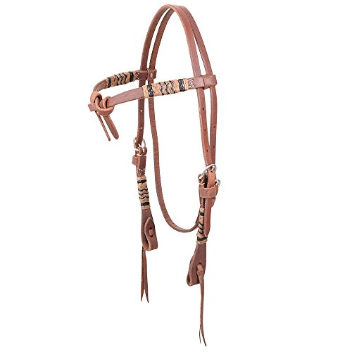 Martin Saddlery Rawhide Braided Tie Front Natural Headstall